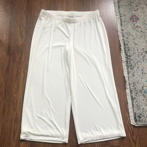 Chico's Travelers Wide Leg Pants Lined Ivory Cream